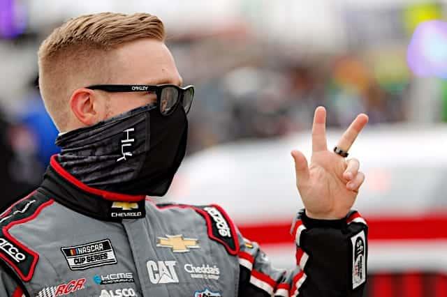 Tyler Reddick at Las Vegas Motor Speedway for the 2021 Pennzoil 400 Photo: NKP