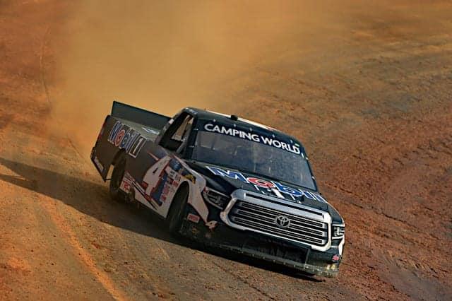 2021 Trucks Bristol Dirt Practice John Hunter Nemechek (Credit: NKP)