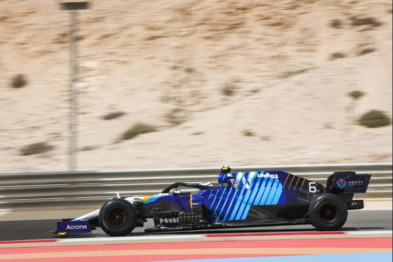 Williams Bahrain 2021 testing