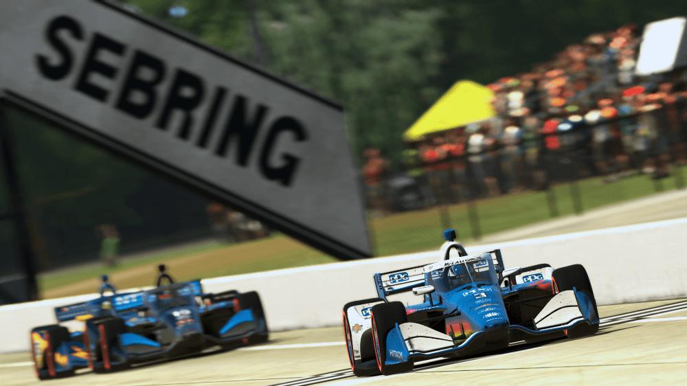 Scott McLaughlin wins virtual Sebring in IndyCar iRacing Challenge Justin Melillo via iRacing